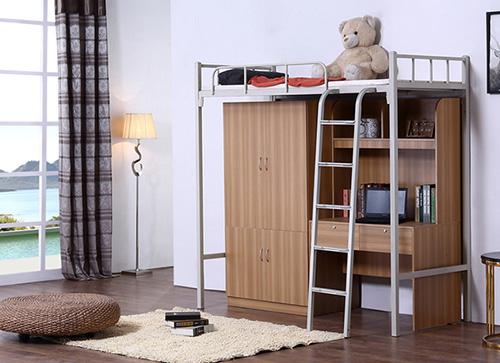 宿舍床带书桌